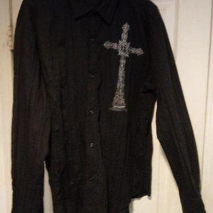 Cross button down shirt